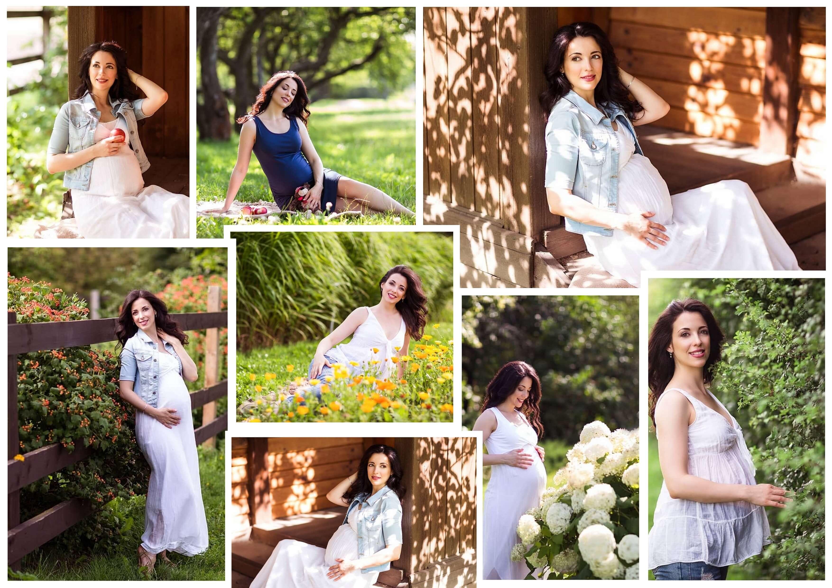 Вариант коллажа беременности на фоне природы